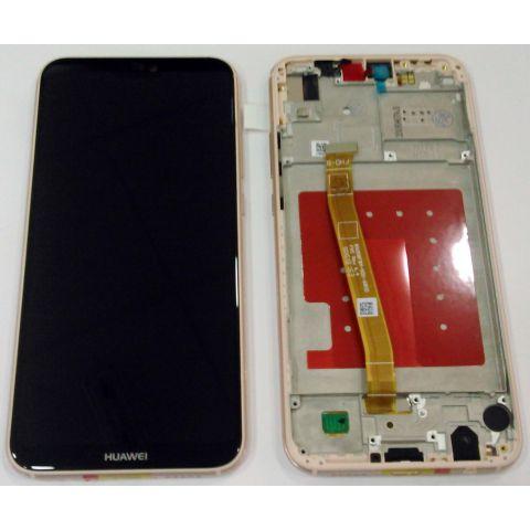 inlocuire display touchscreen si rama huawei p20 lite ane-lx1 roz original