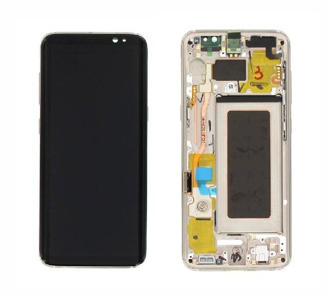 inlocuire display cu touchscreen si rama samsung galaxy s8 g950f gold