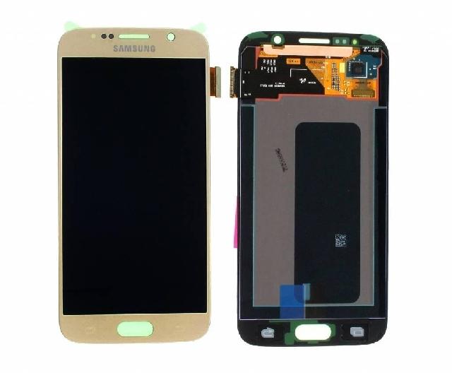 inlocuire display cu touchscreen samsung sm-g920f galaxy s6 gold original