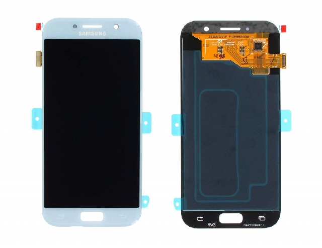 inlocuire display touchscreen samsung sm-a520f galaxy a5 2017 bleu gh97-19733c