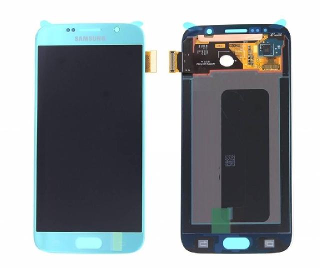 inlocuire display cu touchscreen samsung sm-g920f galaxy s6 albastru original