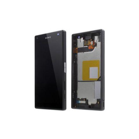 inlocuire display cu touchscreen si rama sony e5803 e5823 xperia z5 compact dark blue