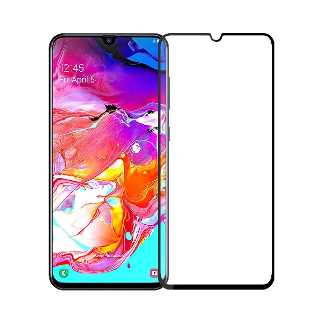 folie geam protectie 015mm samsung sm-a705f galaxy a70 5d curved and full cover negru