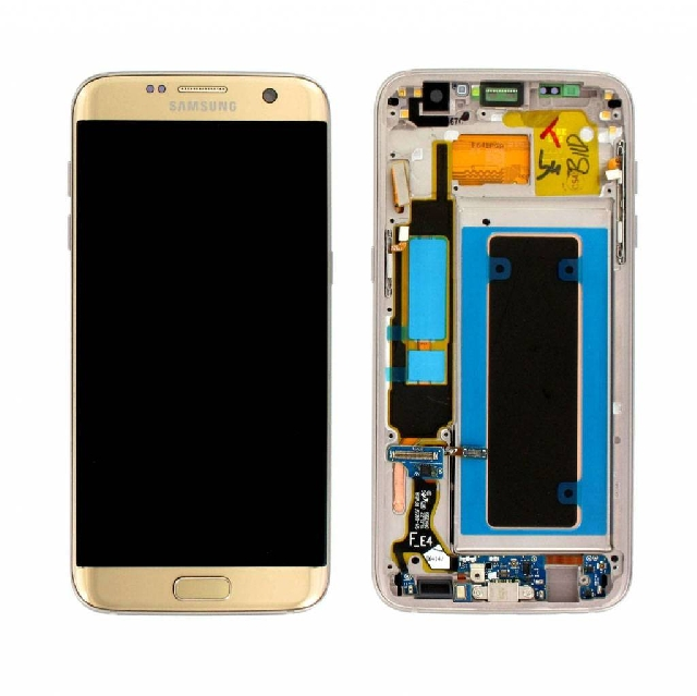 inlocuire display cu touchscreen samsung galaxy s7 edge g935 gold original