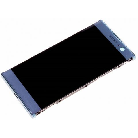 display cu touchscreen si rama sony h3113 xperia xa2  h4113 xperia xa2 dual albastru