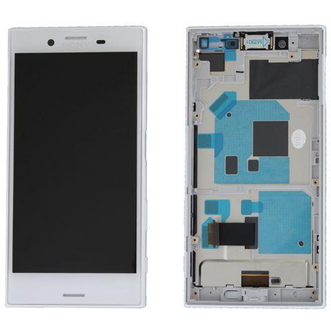 inlocuire display cu touchscreen si rama sony xperia x compact f5321 alb