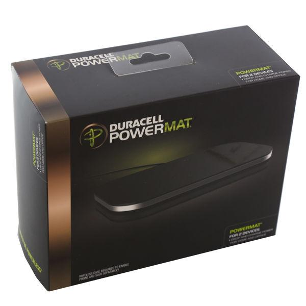 incarcator wireless duracell powermat for 2 devices pma compatible black