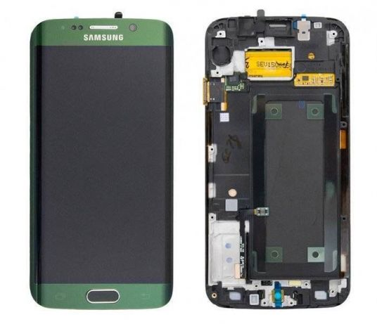 inlocuire display set complet samsung galaxy s6 edge green g925 gh97-17162e