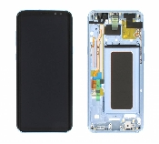 display cu touchscreen si rama samsung sm-g955f galaxy s8 plus blue oem gh97-20470d