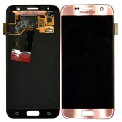 inlocuire display set complet pink samsung galaxy s7 g930 gh97-18523e original