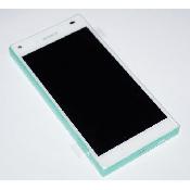inlocuire display cu touchscreen si rama sony e5803 e5823 xperia z5 compact alb