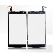 inlocuire geam touchscreen alcatel one touch m812 m812c orange nura negru original