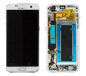 inlocuire display set complet samsung galaxy s7 edge g935 original alb