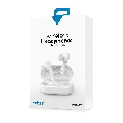 casti audio wireless vetter bluetooth 50 in-ear headset white