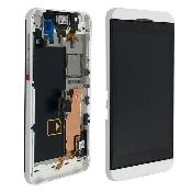 inlocuire carcasa display cu touchscreen blackberry z10 alb
