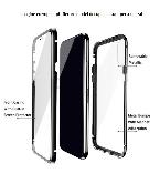 husa iphone 7 plus magnetic 360 full body  negru