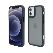 husa vetter iphone 12 mini clip-on hybrid shockproof soft edge and rigid matte back cover black