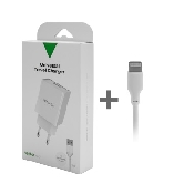 incarcator iphone apple smart travel charger with lighting cable vetter go 31a white