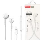 casti handsfree tranyoo k2 in-ear headphones lightning 1m white