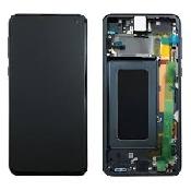 inlocuire display cu touchscreen si rama samsung sm-g970f galaxy s10e original negru oem