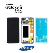 inlocuire display cu touchscreen si rama samsung sm-g973f galaxy s10 original alb oem