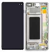 inlocuire display cu touchscreen si rama samsung sm-g975f galaxy s10 plus alb original