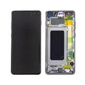 inlocuire display cu touchscreen si rama samsung sm-g975f galaxy s10 plus negru original oem