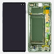 inlocuire display cu touchscreen si rama samsung sm-g975f galaxy s10 plus verde original oem