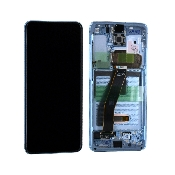 inlocuire display set complet samsung s20 5g g980f g981f cloud blue oem original