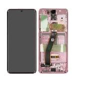inlocuire display set complet samsung s20 5g g980f g981f cloud pink oem original