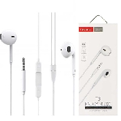 casti handsfree tranyoo t3 in-ear headphones 1m white jack 35 mm