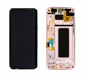 display cu touchscreen si rama samsung sm-g955f galaxy s8 plus pink gh97-20470f